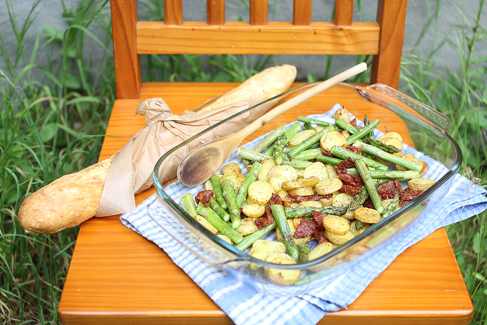 asparagus and herbed spring potatoes