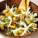 lentils pumpkin fennel salad