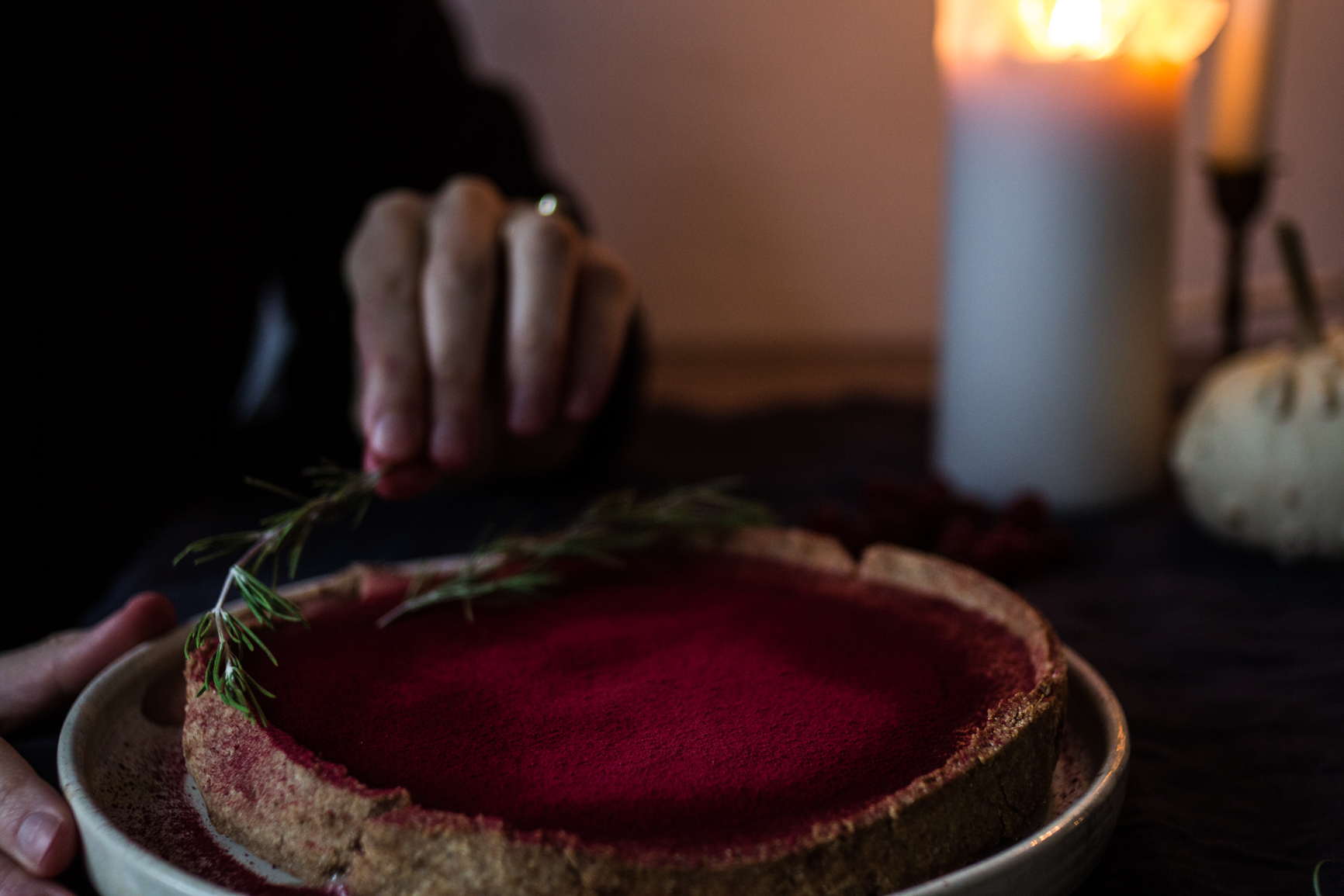 good natured table: cranberry vanilla tart