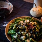 spinach brussel sprout salad