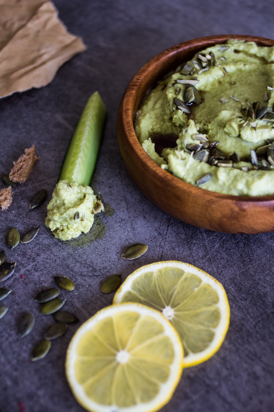 green pea spread
