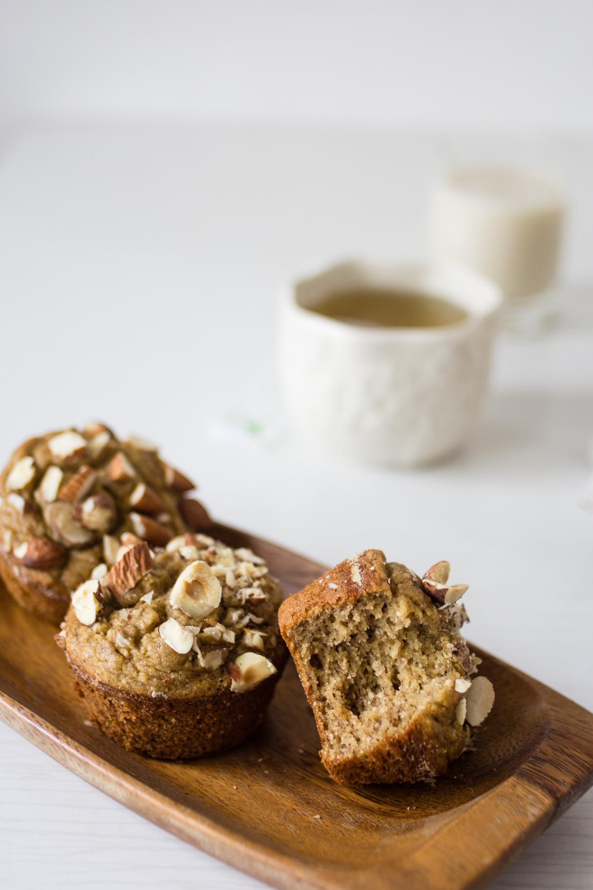 gluten free dairy free banana muffins