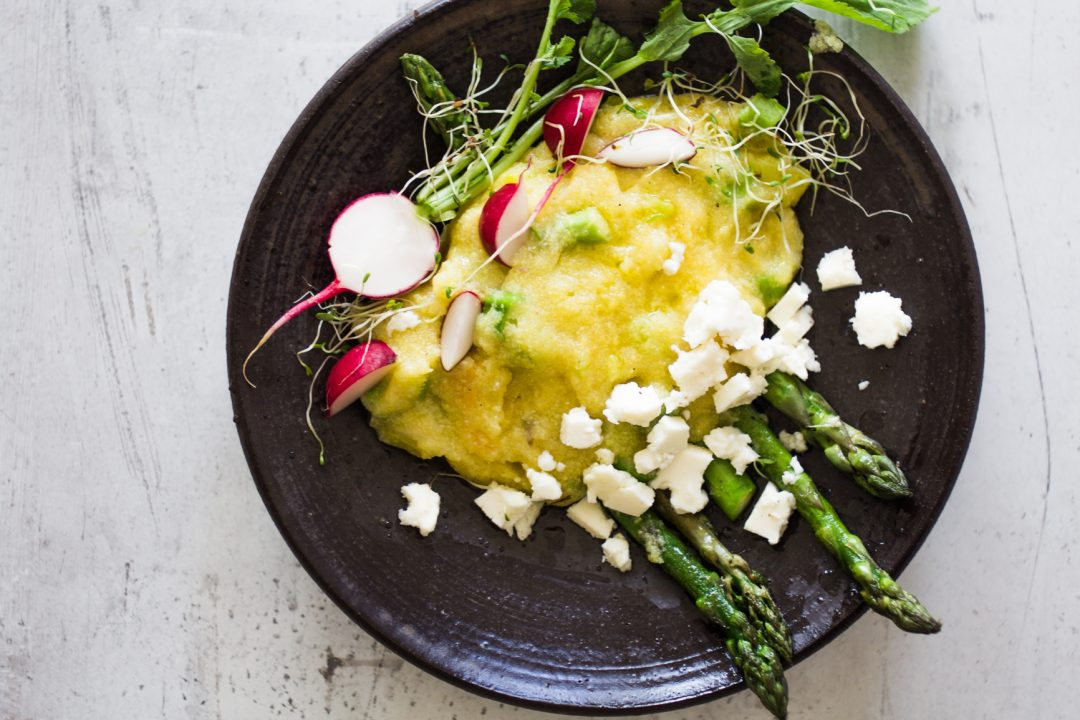 Asparagus polenta