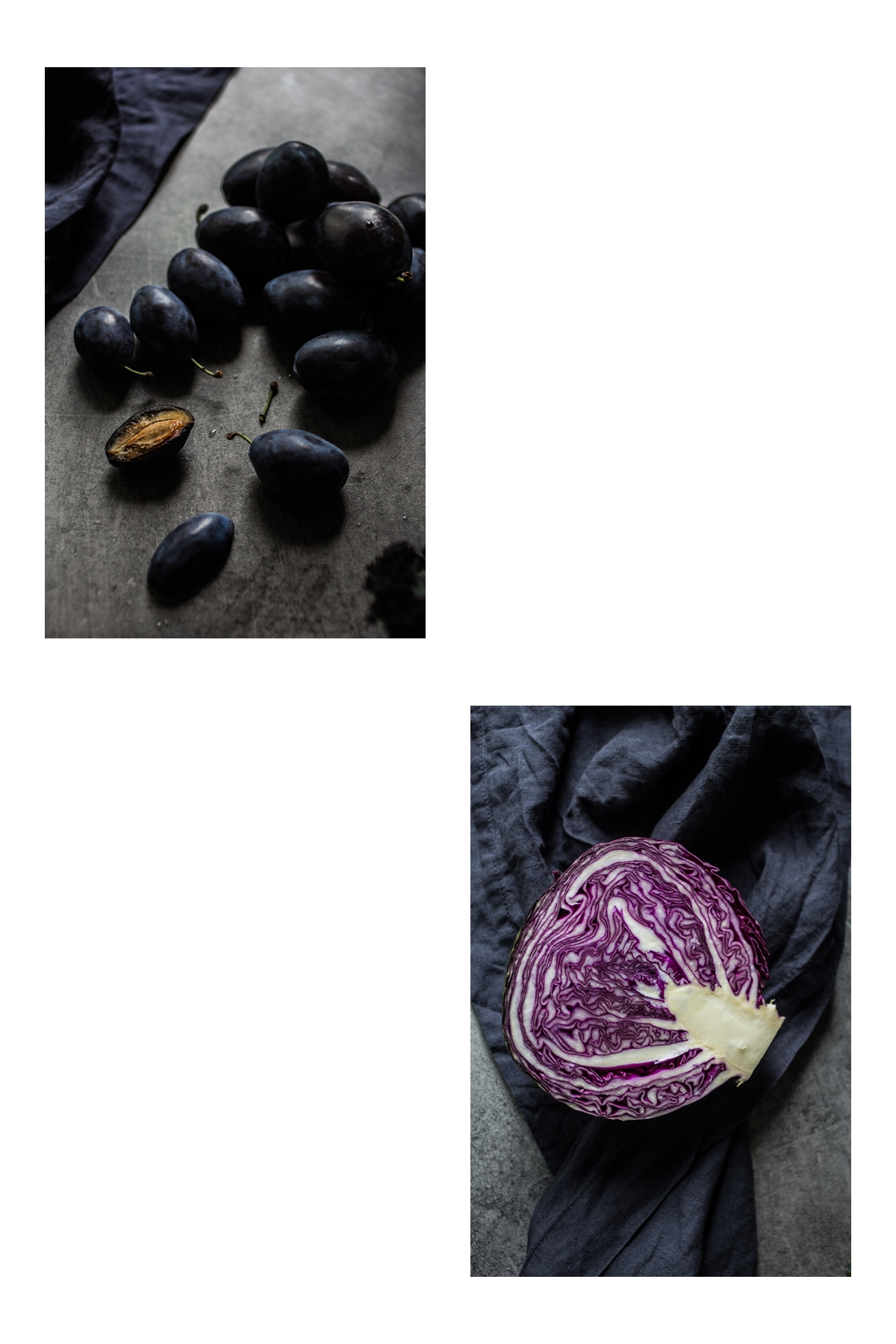 blue and purple vegetables