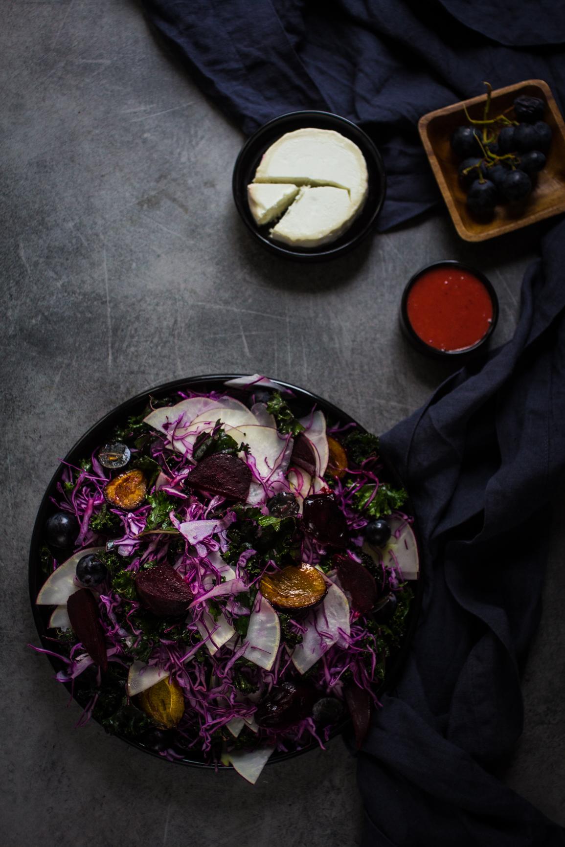 purple cabbage salad