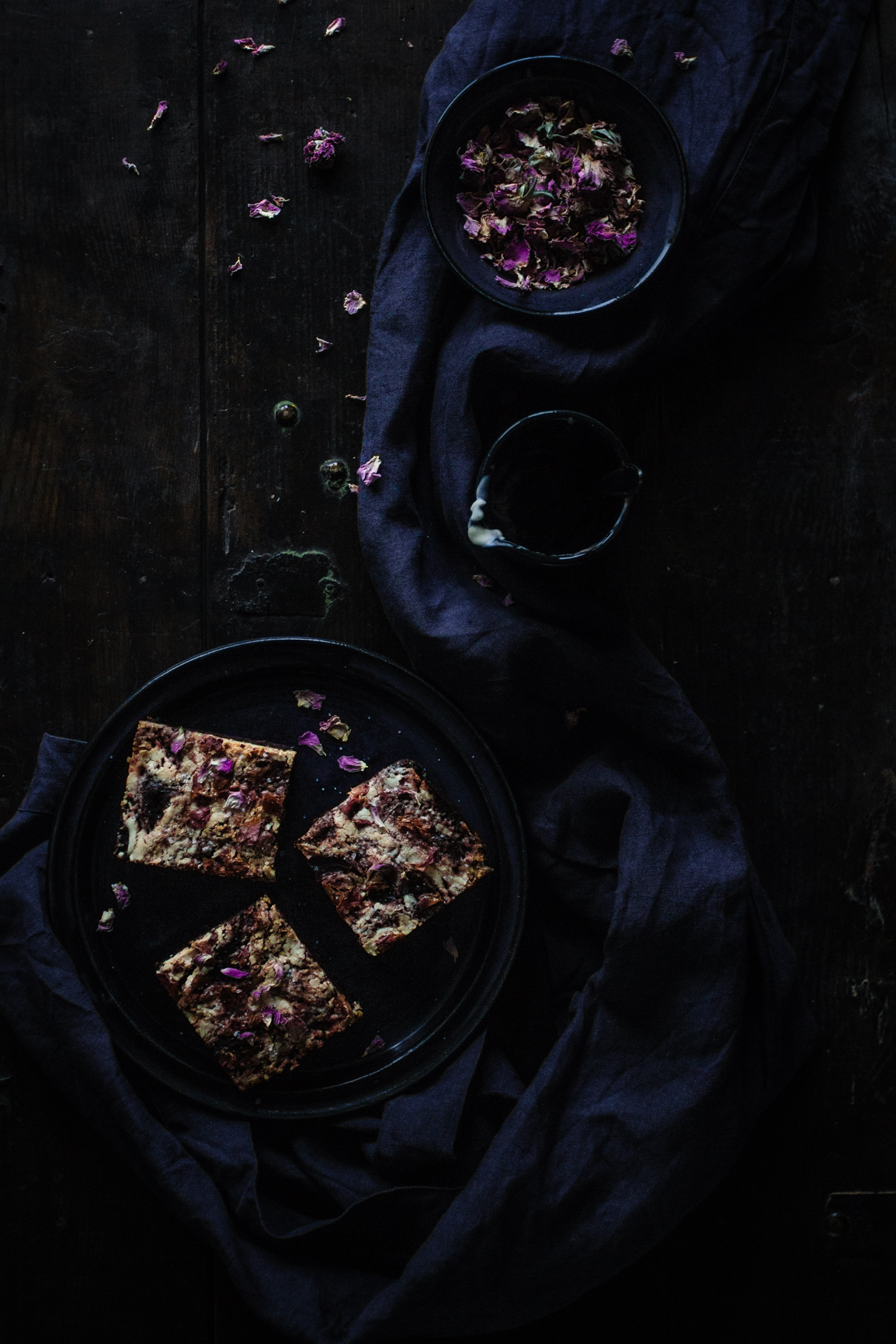 gluten free beet rose brownie